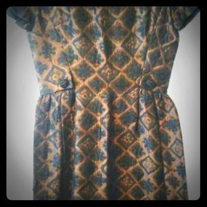 Mollie Parnis for B. Altman Quilted Dress, Med